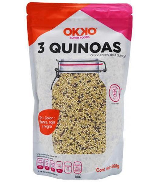 3 QUINOAS 500 G OKKO