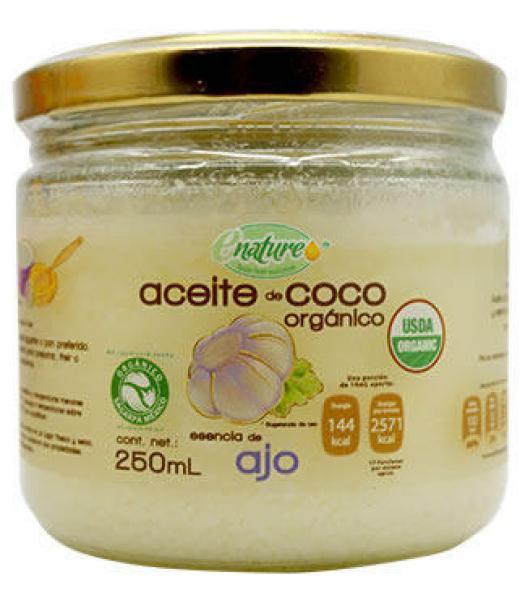 ACEITE DE COCO ORGANICO SAB AJO 250 ML E-NATURE