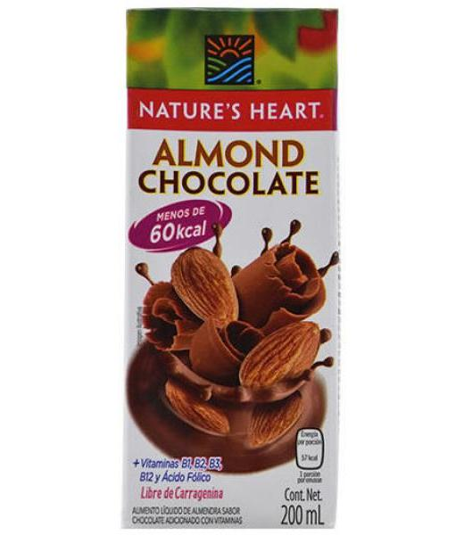 BEBIDA DE ALMENDRA SAB CHOCOLATE 200 ML NATURES HEART
