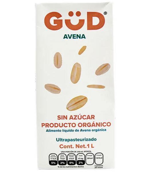 BEBIDA DE AVENA ORGANICA SIN AZUCAR 1 L GUD