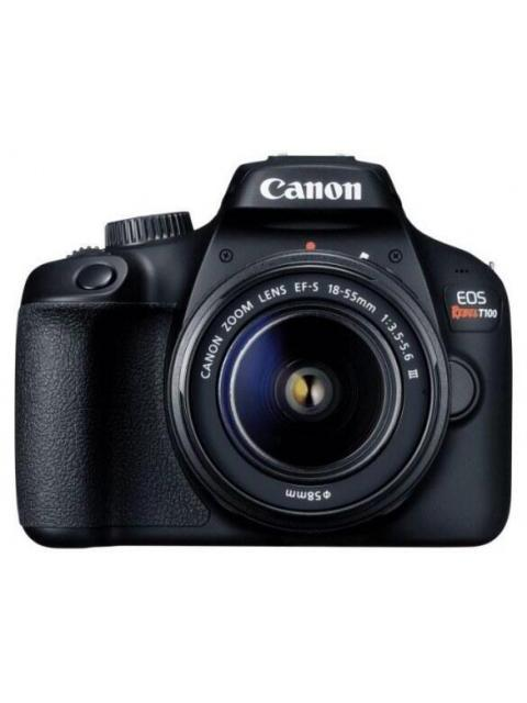 CAMARA CANON EOS REBEL T100 - PANTALLA 2.7 - 18MP - VIDEO FULL HD - WI-FI - CON LENTE EF-S 18-55MM - PROMO CANON