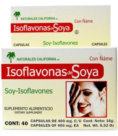ISOFLAVONAS DE SOYA 40 CAP NATURALES CALIFORNIA