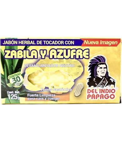 JABON SABILA Y AZUFRE 125 G DEL INDIO PAPAGO