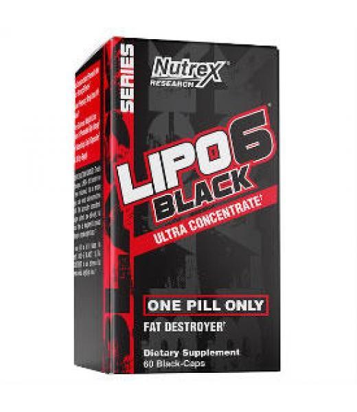LIPO 6 BLACK UC 60 CAPS (60 SRVS) NUTREX