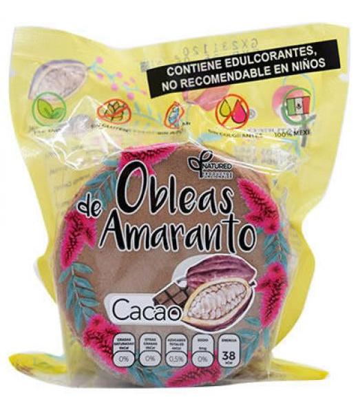 OBLEAS DE AMARANTO CON CACAO 50 G NATURED C 12