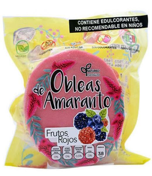 OBLEAS DE AMARANTO CON FRUTOS ROJOS 50 G NATURED C 12