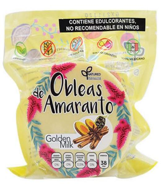 OBLEAS DE AMARANTO CON GOLDEN MILK 50 G NATURED C 12