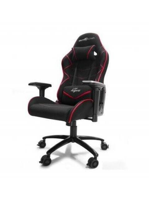 SILLA GAMER GAME FACTOR CGC600-RD - RECLINABLE - ESTRELLA METALICA - DESCANSA BRAZOS - NEGRO-ROJO