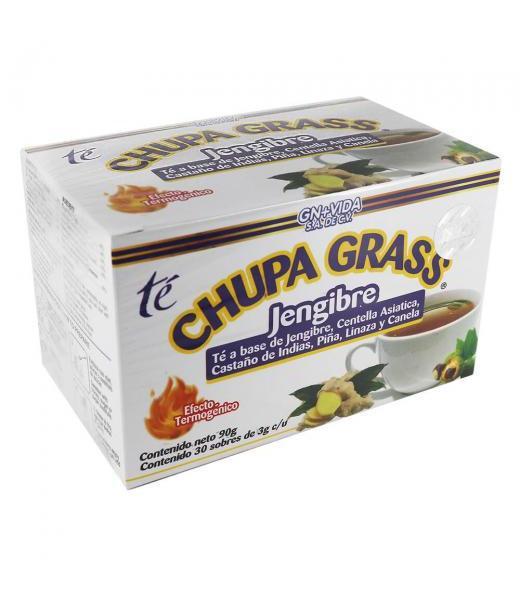 TE CHUPA GRASS C 30 SOB JENGIBRE CENTELLA ASIATICA CASTAño dE INDIAS GN+VIDA
