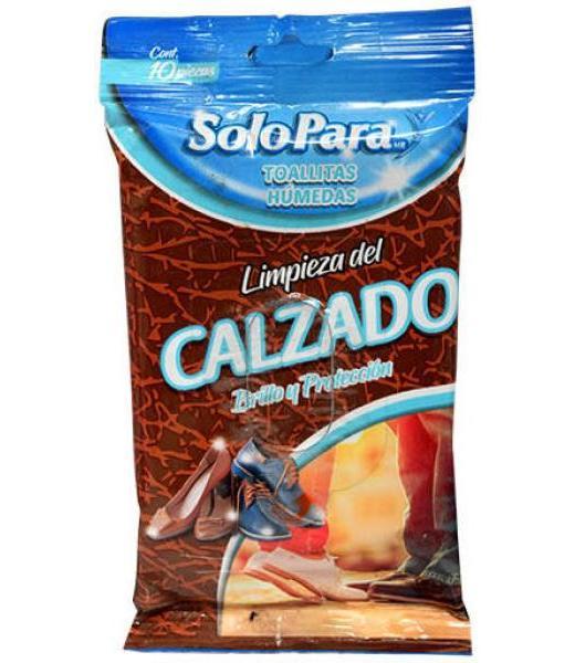 TOALLITAS HUMEDAS LIMPIEZAS DE CALZADO 10 PZAS SOLO PARA
