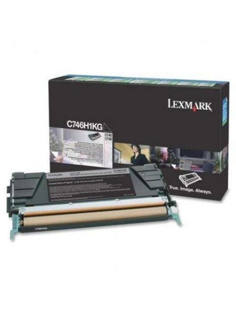 TONER LEXMARK C746H1KG - NEGRO - 12000 PAGINAS - PROGRAMA DE RETORNO