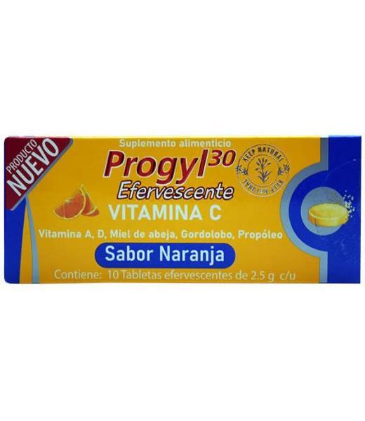 VITAMINA C EFERVESCENTE 10 TAB PROGYL30