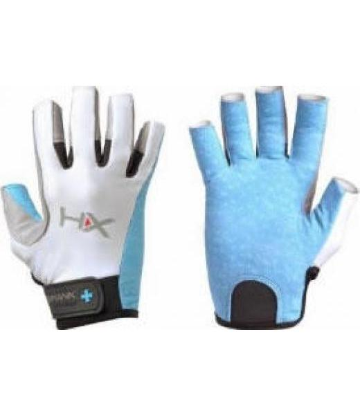 WOMENS X3 OPEN FINGER GLOVES BLUE GRAY S HUMANX