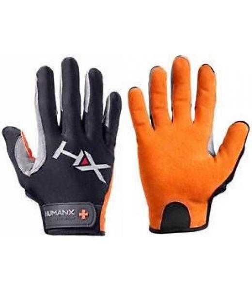 X3 FULL FINGER GLOVES ORANGE GRAY M HUMANX